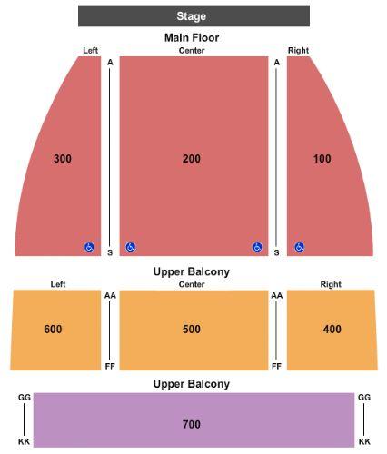 Grand Rapids Civic Theatre Seating Chart